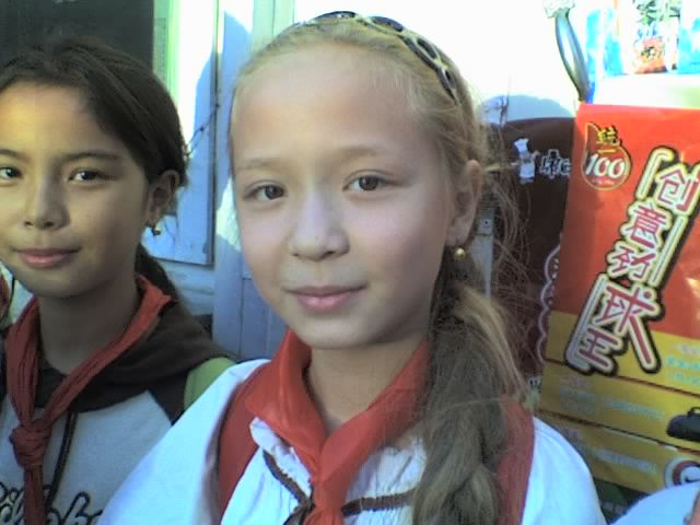 Blonde Uyghur girl